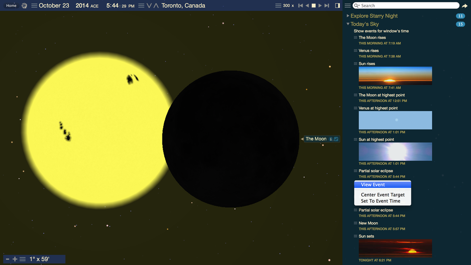 Partial solar eclipse on October 23rd — Simulating the Universe