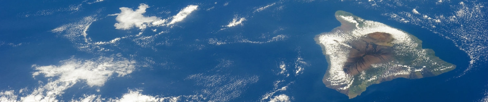 Big Island of Hawaii from space, January 26, 2014