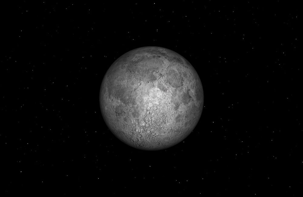 "On Friday, July 31, most of the world will have a ""blue moon."" Credit: Starry Night software."