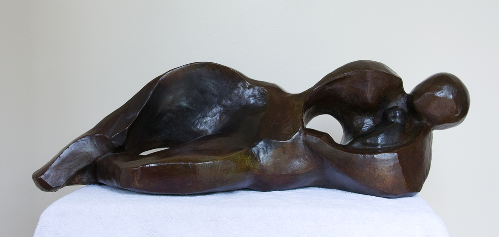 Abstract Mother and Child, Bronze