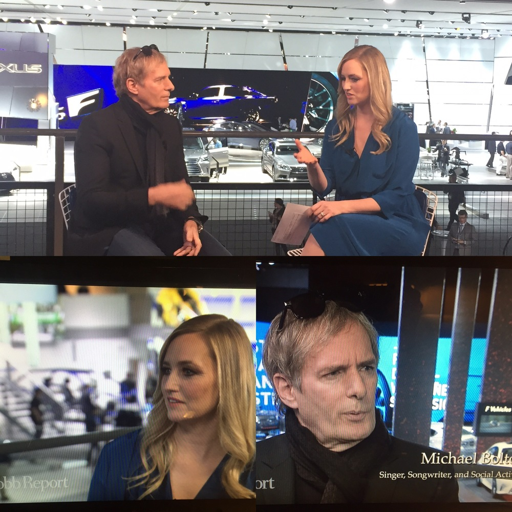 Makeup and Hair for Katrina Szish and Michael Bolton for Robb Report Live
