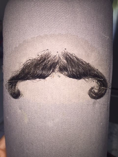 Mustache dressing for commercial shoot
