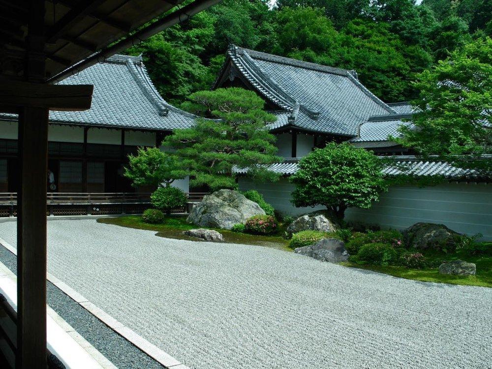 Kobori Enshu's famous rock garden at Nanzen-ji