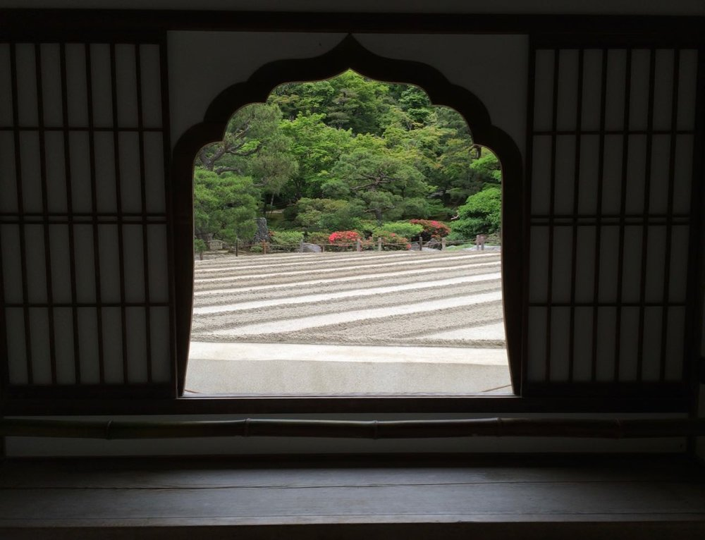 Ginkaku-ji window