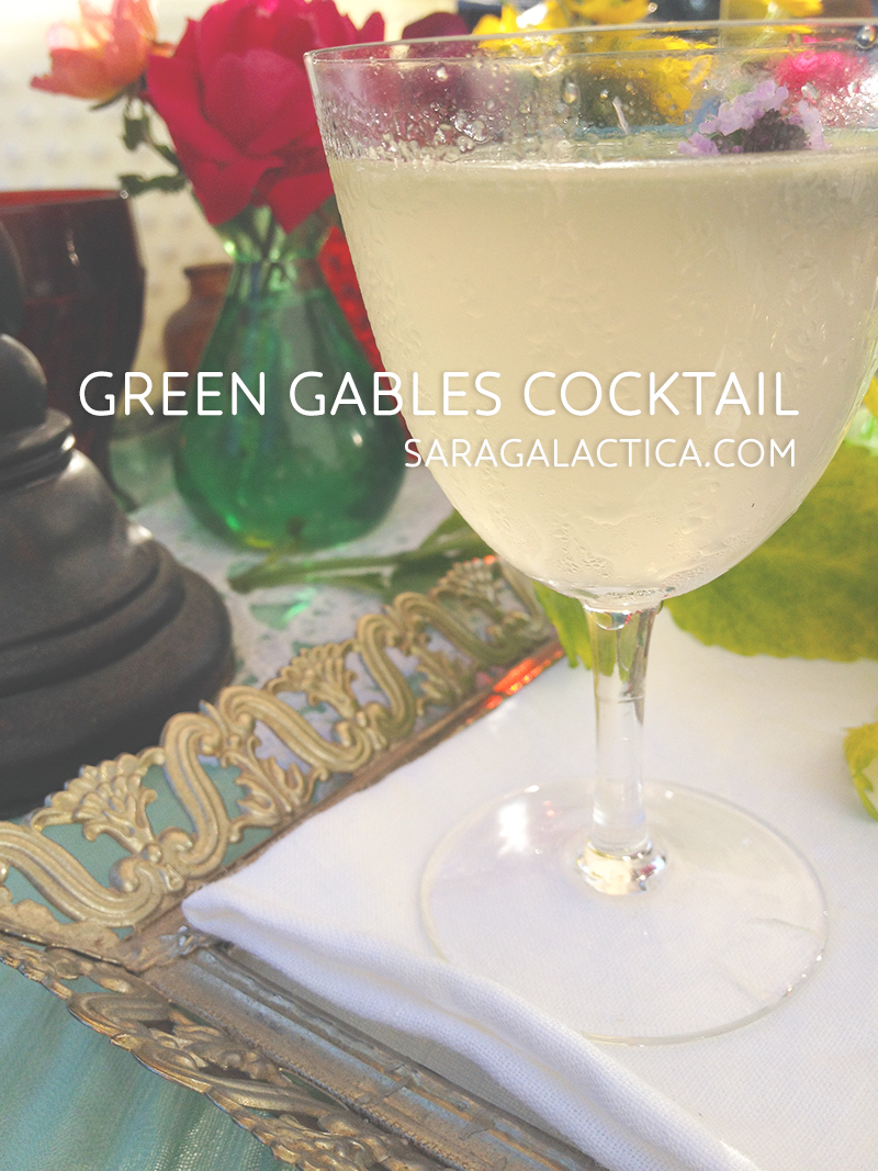 Green Gables cocktail: Gin, Lillet blanc, lime, thyme simple syrup, bitters. | Free recipe at saragalactica.com