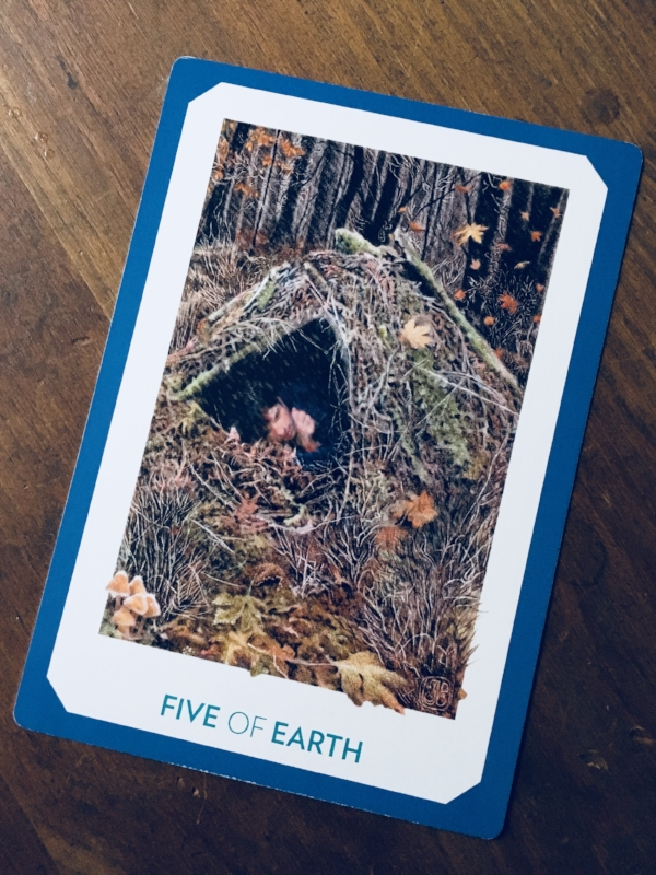 """Five of Earth,"" Gaian Tarot"