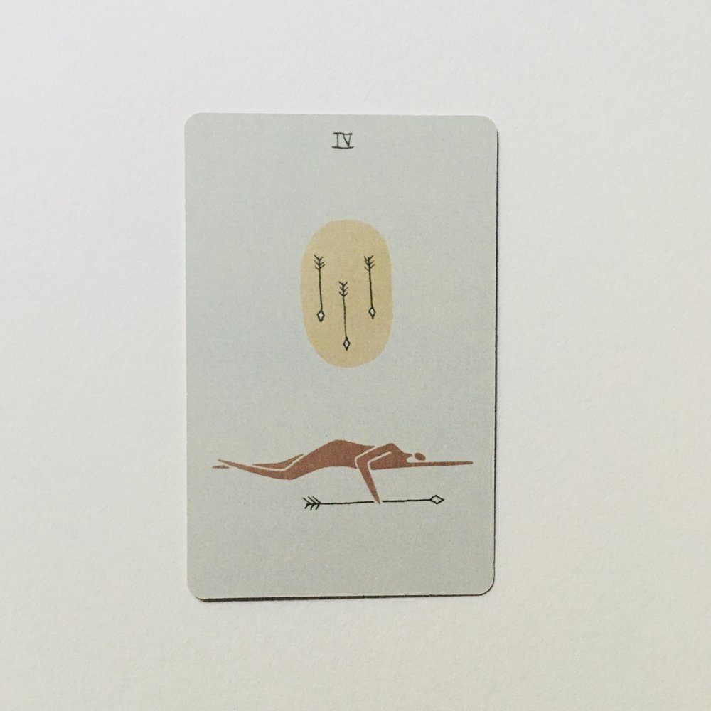Four of Arrows, Mesquite Tarot