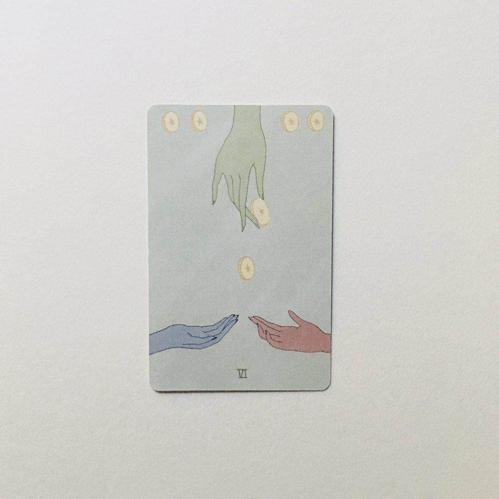 Six of Pentacles, Mesquite Tarot