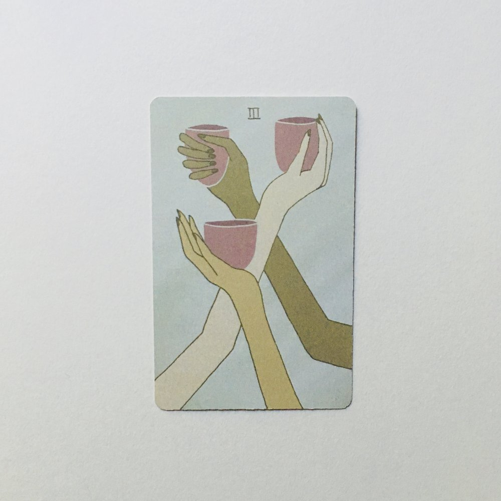 Three of Cups, Mesquite Tarot