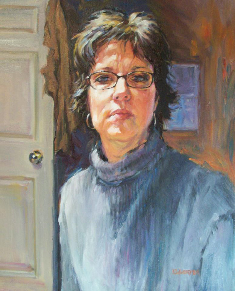 Oil    Oil portraits can be formal or casual as in this example. Colors are rich and there is a elegant texture as part of the style.