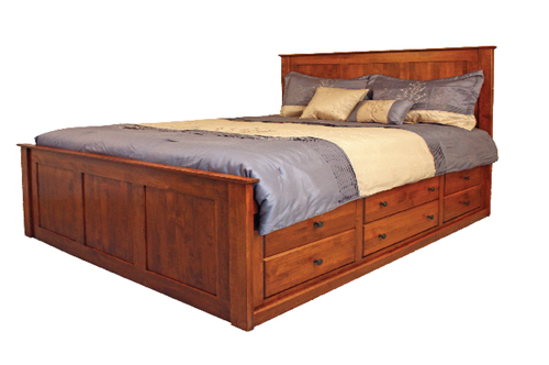 Shaker 12 Drawer Storage Bed