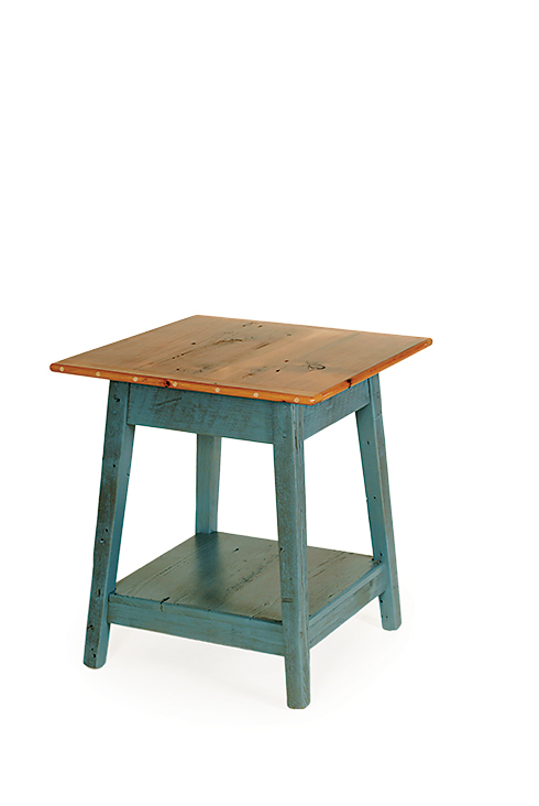 Reclaimed barnwood square end table sams wood furniture reclaimed barnwood square end table watchthetrailerfo