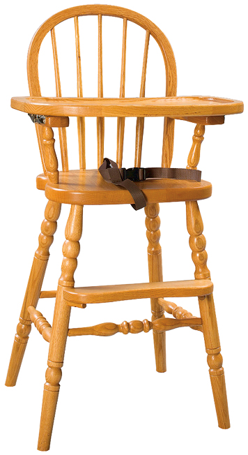 Amish Bow Back High Chair