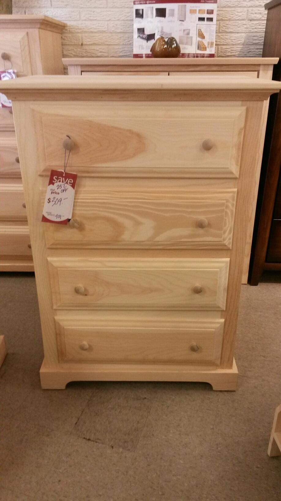 drawer westchester chest dresser drawers products palmer of woods unfinished