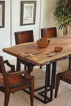 Amish Crafted Live Edge Dining Table