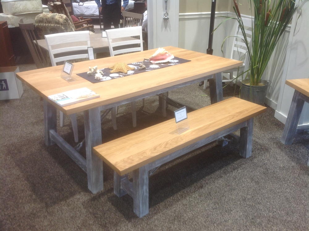 Ocean Currents Collection - Trestle Table with Bench by Penns Creek Furniture - Table $2,899