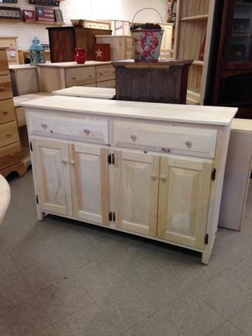 Amish pine buffet with drawers and doors.jpg