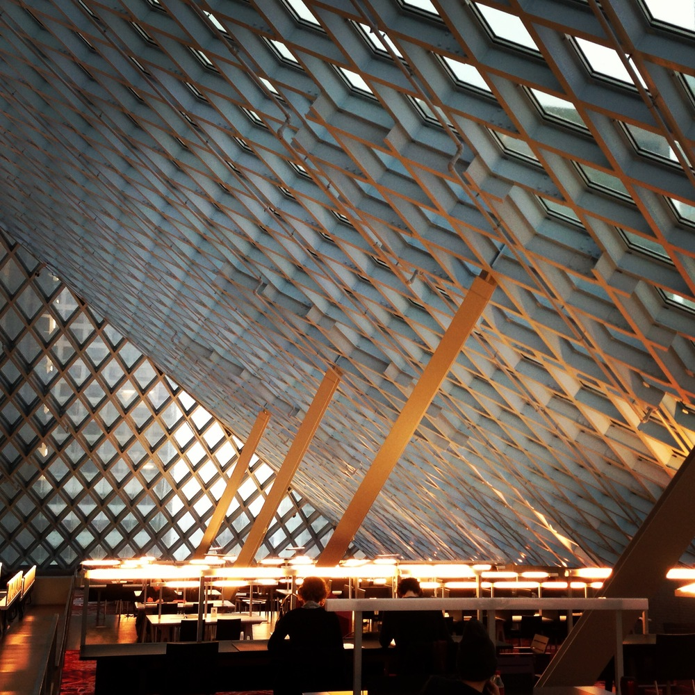 Reading room in the spectacular Seattle Public Library (photo by John Degen)