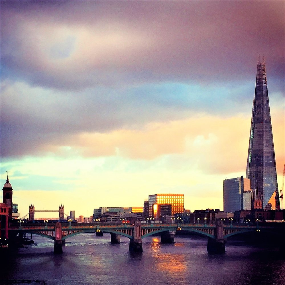 The Thames, the Shard, and the Tower Bridge, from the Millennium Bridge, London. Image courtesy me and my little camera.