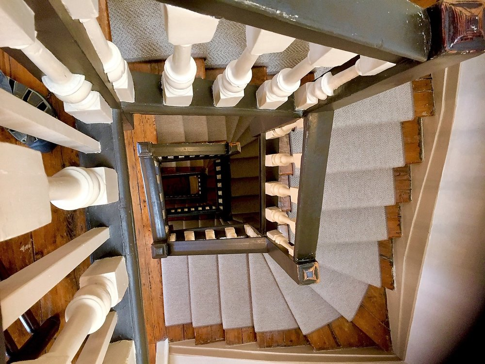 Central staircase in Dr. Samuel Johnson's townhouse, City of London. Image courtesy me and my little camera.