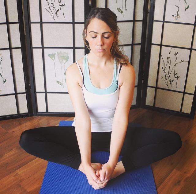 bound angle.yoga.chiropractic
