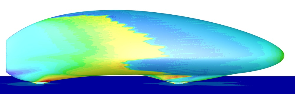 CFD analysis using SST laminar to turbulent flow transition model