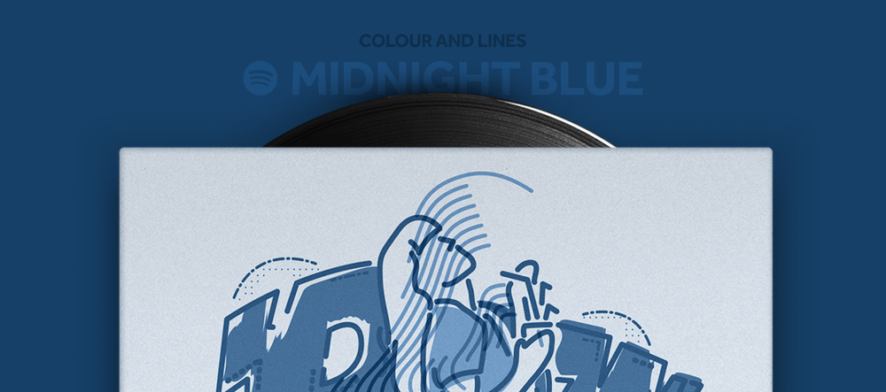 Colour and Lines Mixtape - Midnight Blue