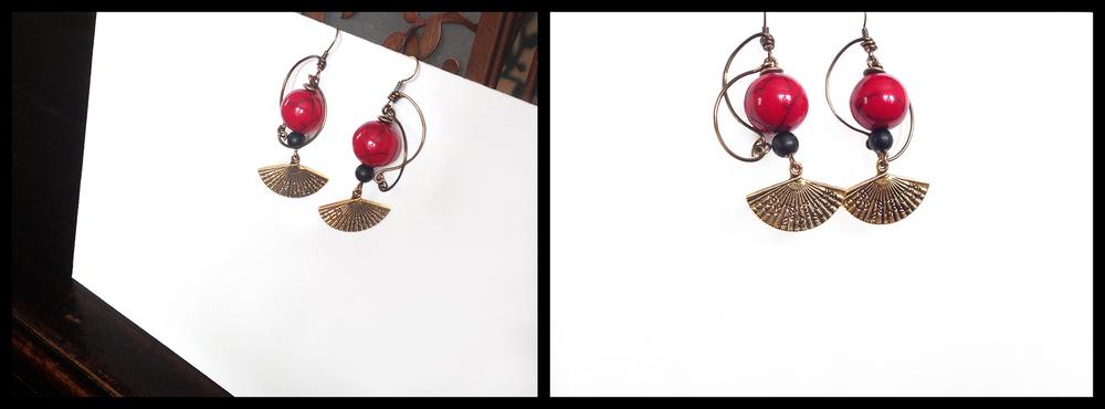Oriental Fan, MWU Earrings