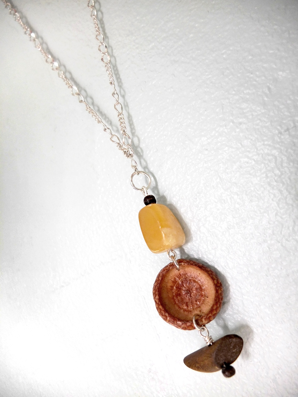 Acorn & Stone Necklace