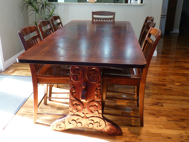 Viking Dining Table Rhine Artisans Fine Woodworking Cabinets And