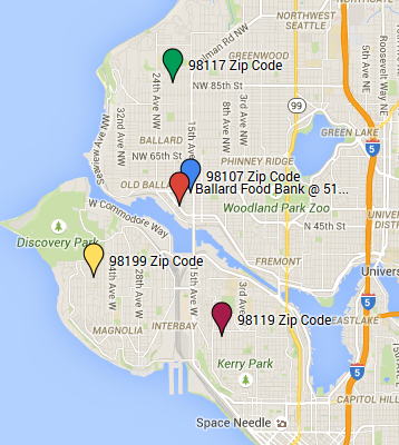 Ballard Food Bank Service Areas 98107, 98117, 98119, 98199