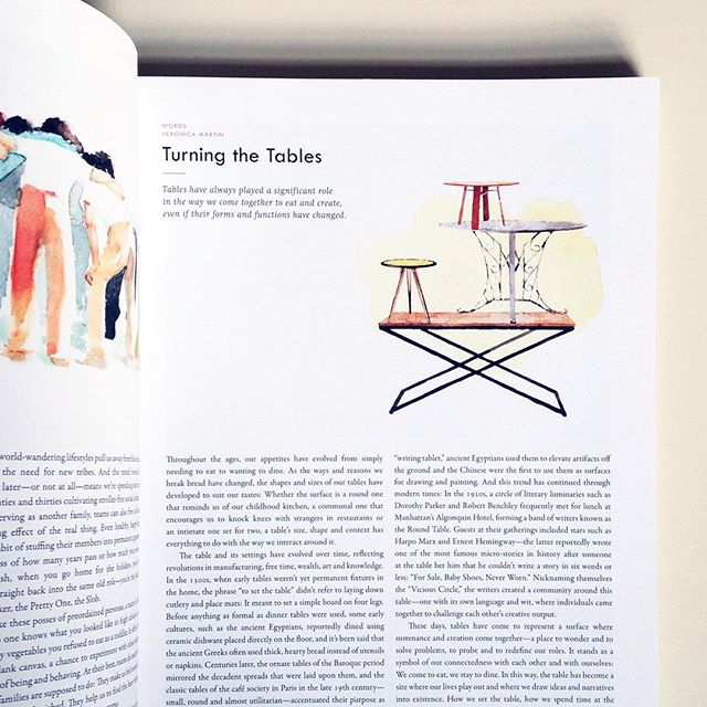 Credit: Turning the Tables - Article by Veronica Martin, @Kinfolk  Magazine (Volume 17)