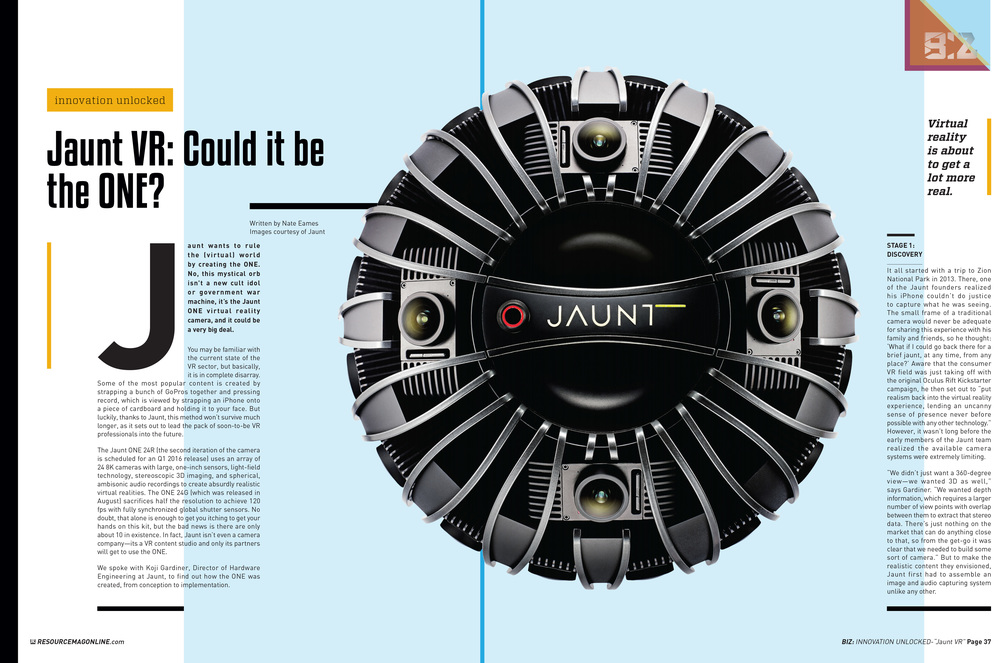 Innovation Unlocked: Jaunt ONE (pages 1 & 2)