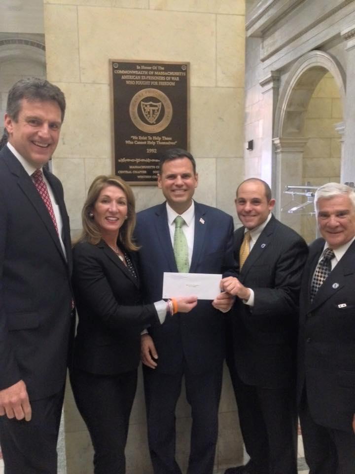 Left to Right: Secretary Jay Ash, Lt. Gov. Karyn Paulito, Mayor Gary Christenson, Rep. Steve Ultrino, Rep. Paul Donato
