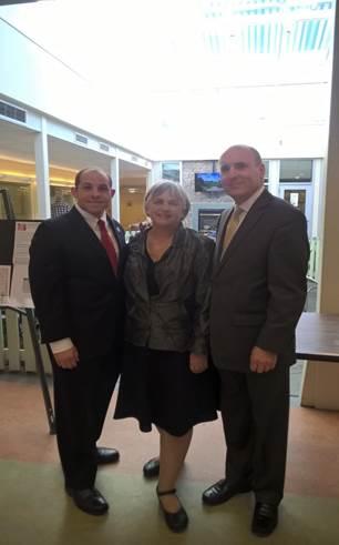 From left: Representatives Steve Ultrino, Denise Garlick, and Paul Brodeur.