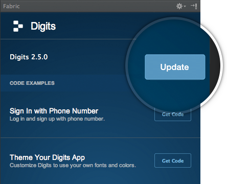 Update to latest Digits SDK