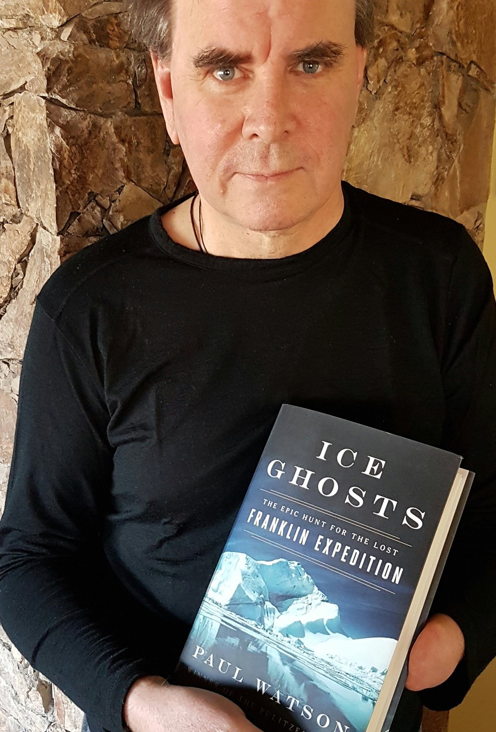 After almost two years of research, reporting and writing, Paul finally gets his hands on a copy of ICE GHOSTS: The Epic Hunt for the Lost Franklin Expedition
