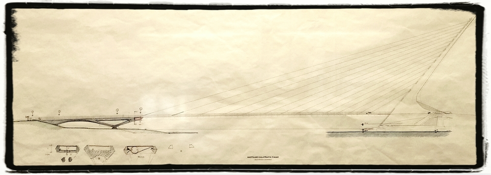 Rendering of the Sundial Bridge. A Gnomon is the projecting piece of a Sundial.