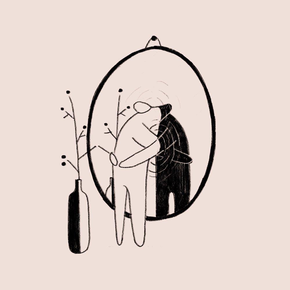Line Drawing Of Yourself : 【鏡子練習】 天創造生命的奇蹟 比佛利莊園 — 過靈性而富足的生活 nidbox親子盒子