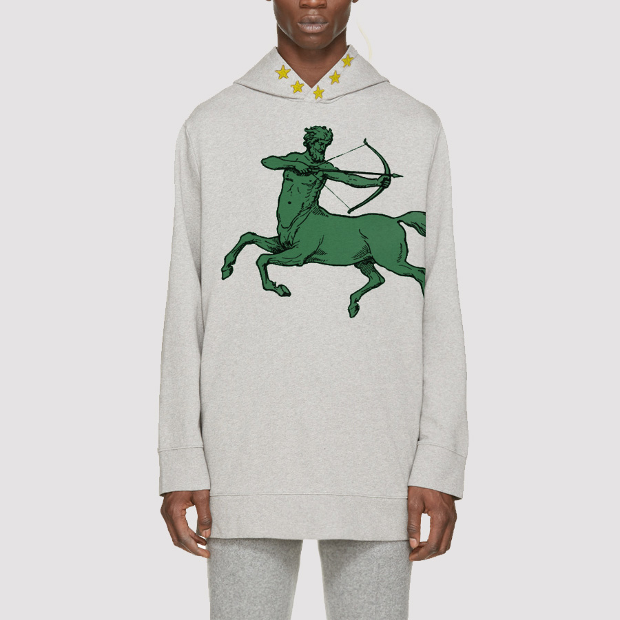 IOTA COLLECTION. 5 Star Centaur Modern Fleece Hoodie