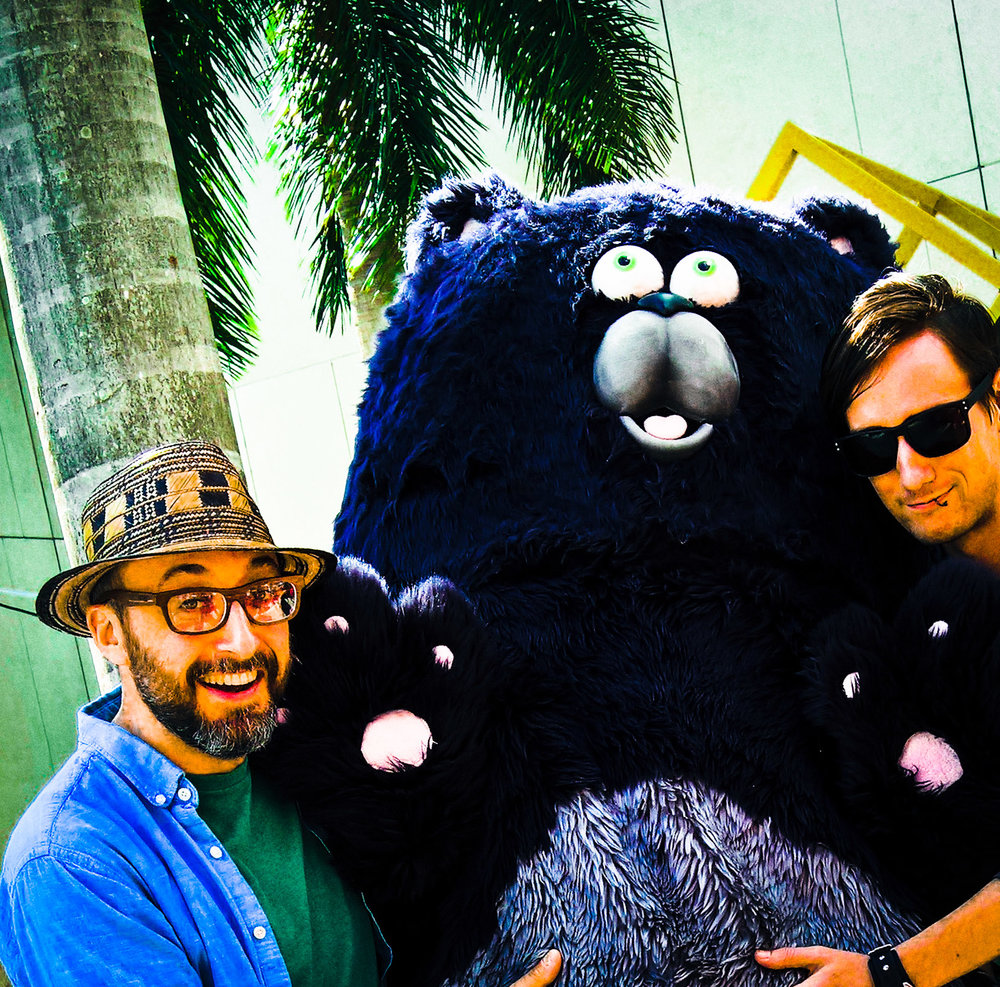 At the Miami Book Fair, Dillon and I made cat-bear-thing nervous for some reason