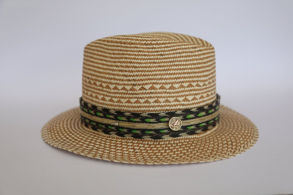 P1 Pachuco hat   Brown and natural color 82fd4b299ee