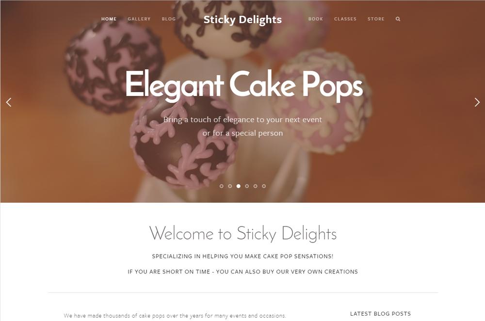 Rotating landing page - Elegant Cake Pops
