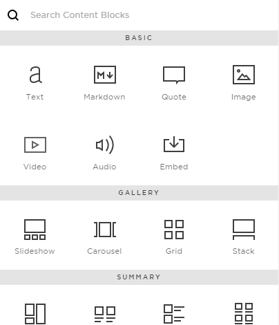 Squarespace Design Layout Blocks