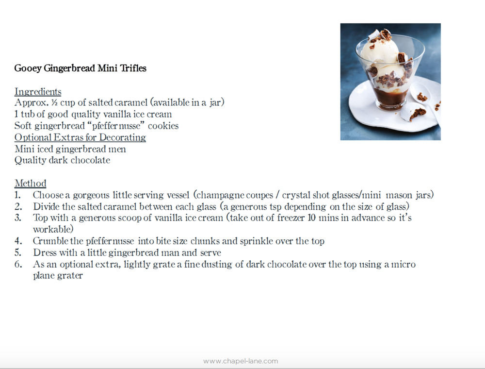 Gingerbread Trifles