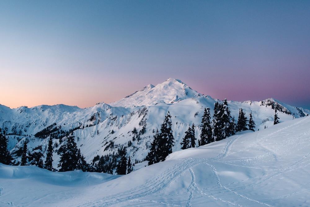Mount Baker at sunrise.