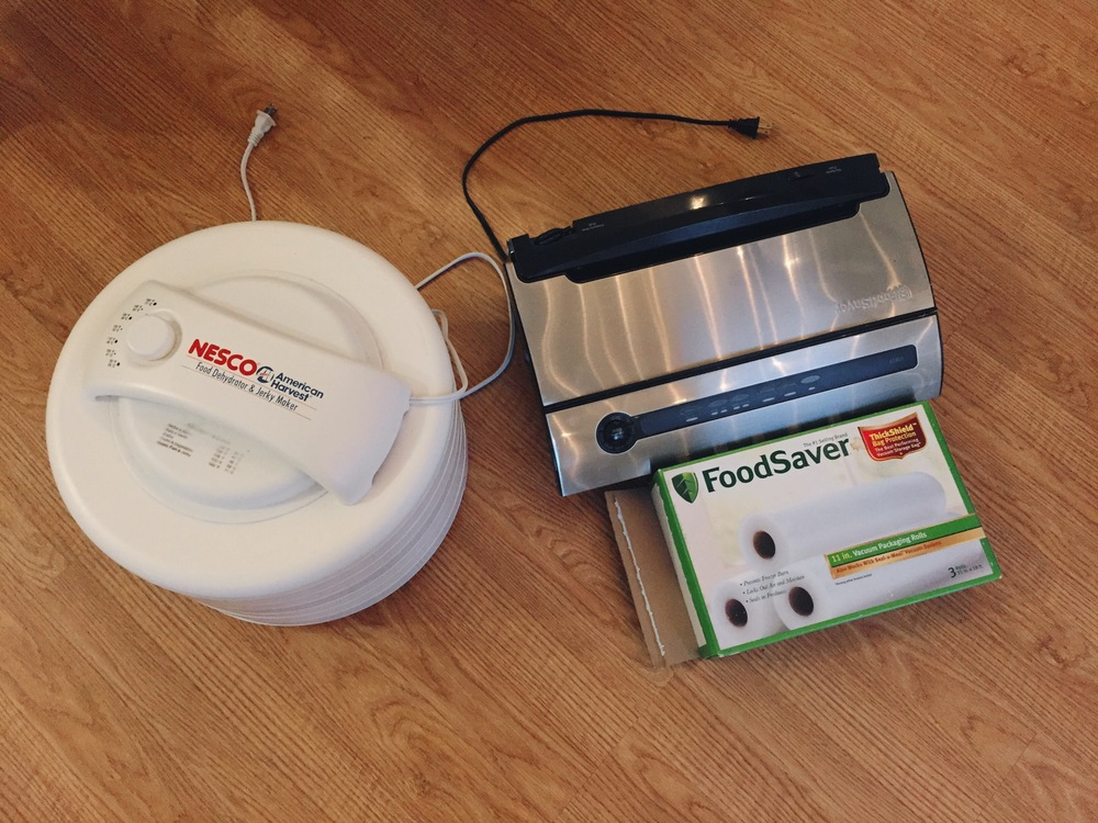 I will be using my dehydrator and was gifted a food vacuum sealer by the Shafers!  They've had it sitting in their garage for several years and didn't need it.