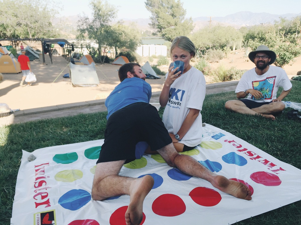 This is how we play Twister.