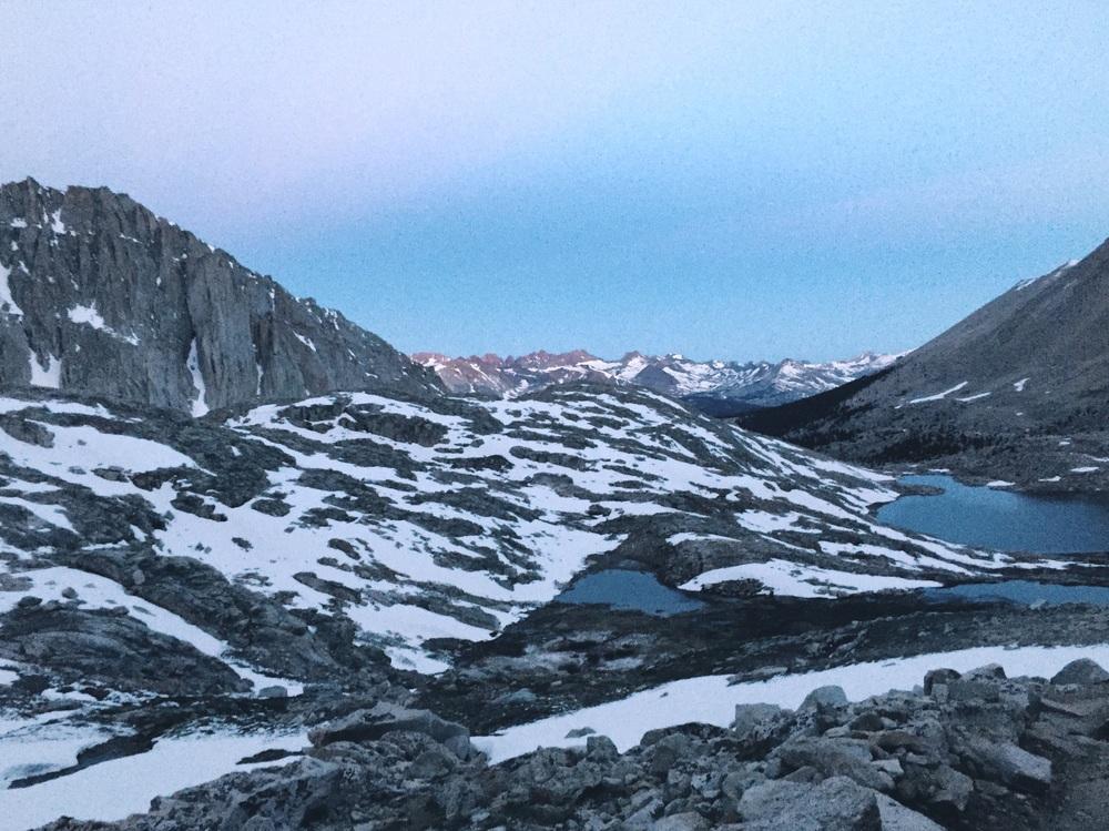 Dawn above guitar lake.