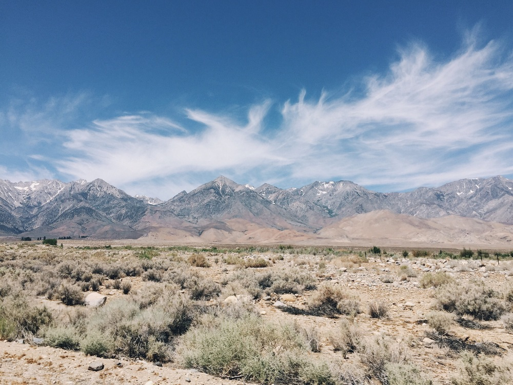 The drive out to onion valley.